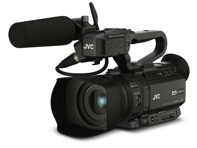 JVC GY-HM250U 4KCAM Compact Handheld Camcorder