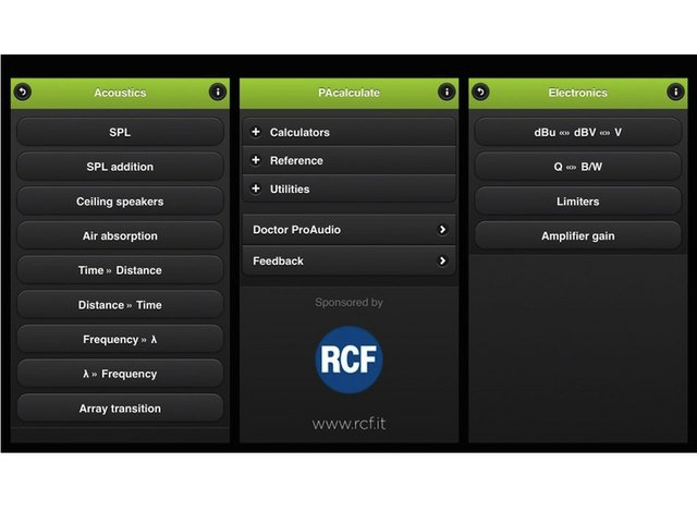 RCF Sponsors PAcalculate App for Pro Audio Industry - Church
