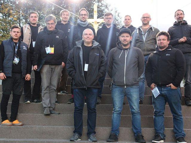 Digico Pope The NGR audio team onsite in Kaunas, Lithuania.jpg