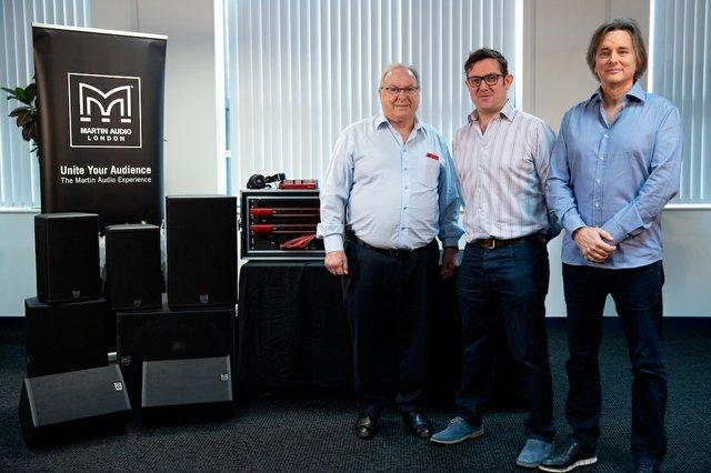 Focusrite founder and chairman, Philip Dudderidge, Martin Audio Managing Director, Dominic Harter, and Focusrite CEO, Tim Carroll.jpg