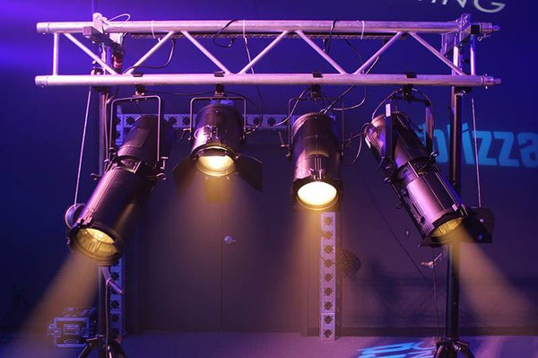 Oberon Fresnel and Oberon Profile Zoom tungsten color lighting fixtures by Blizzard.jpg