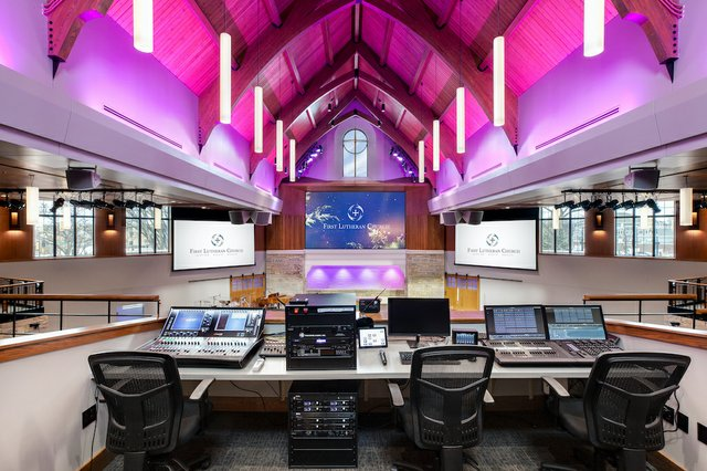 3. First Lutheran Allen-Heath DLive 64-channel digital mixing board & Allen-Heath 1P8 lecture sound control systemcreditJill Ockhardt Blaufuss-1024.jpg