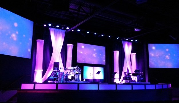 ADJ Lighting Revitalizes Highland Park Church - Church Production Magazine & ADJ Lighting Revitalizes Highland Park Church - Church Production ...